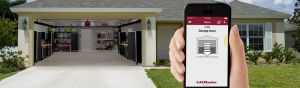 Smartphone garage door opener