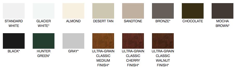 clopay classic colours
